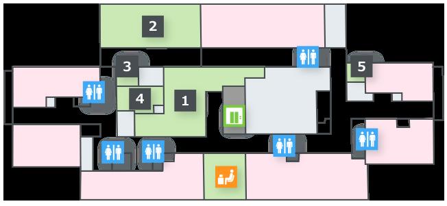 フロアマップ 8階